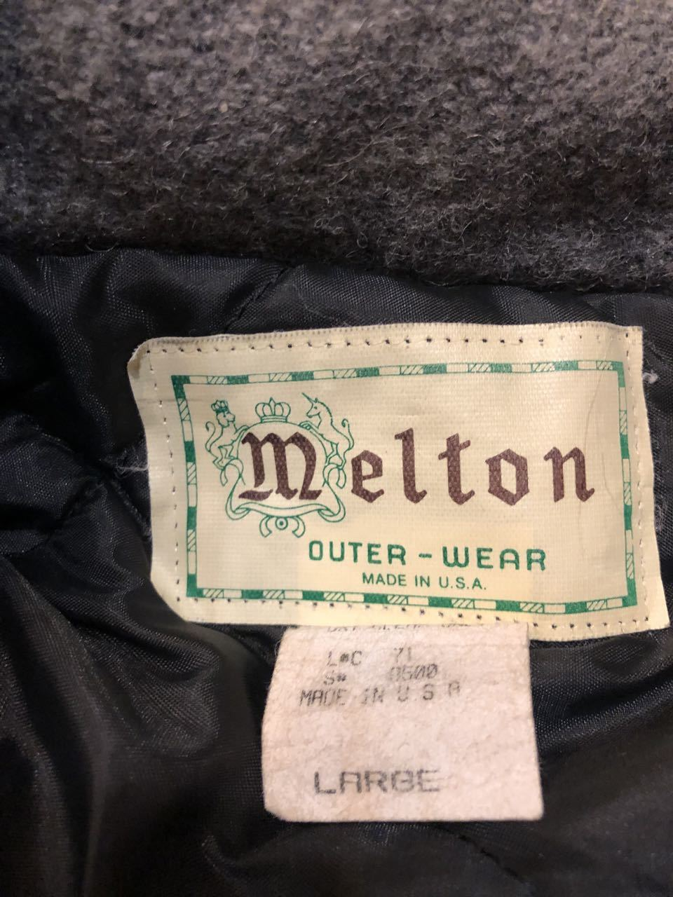 90s Made in U.S.A Melton wool C.P.O ジャケット!_c0144020_14464308.jpg