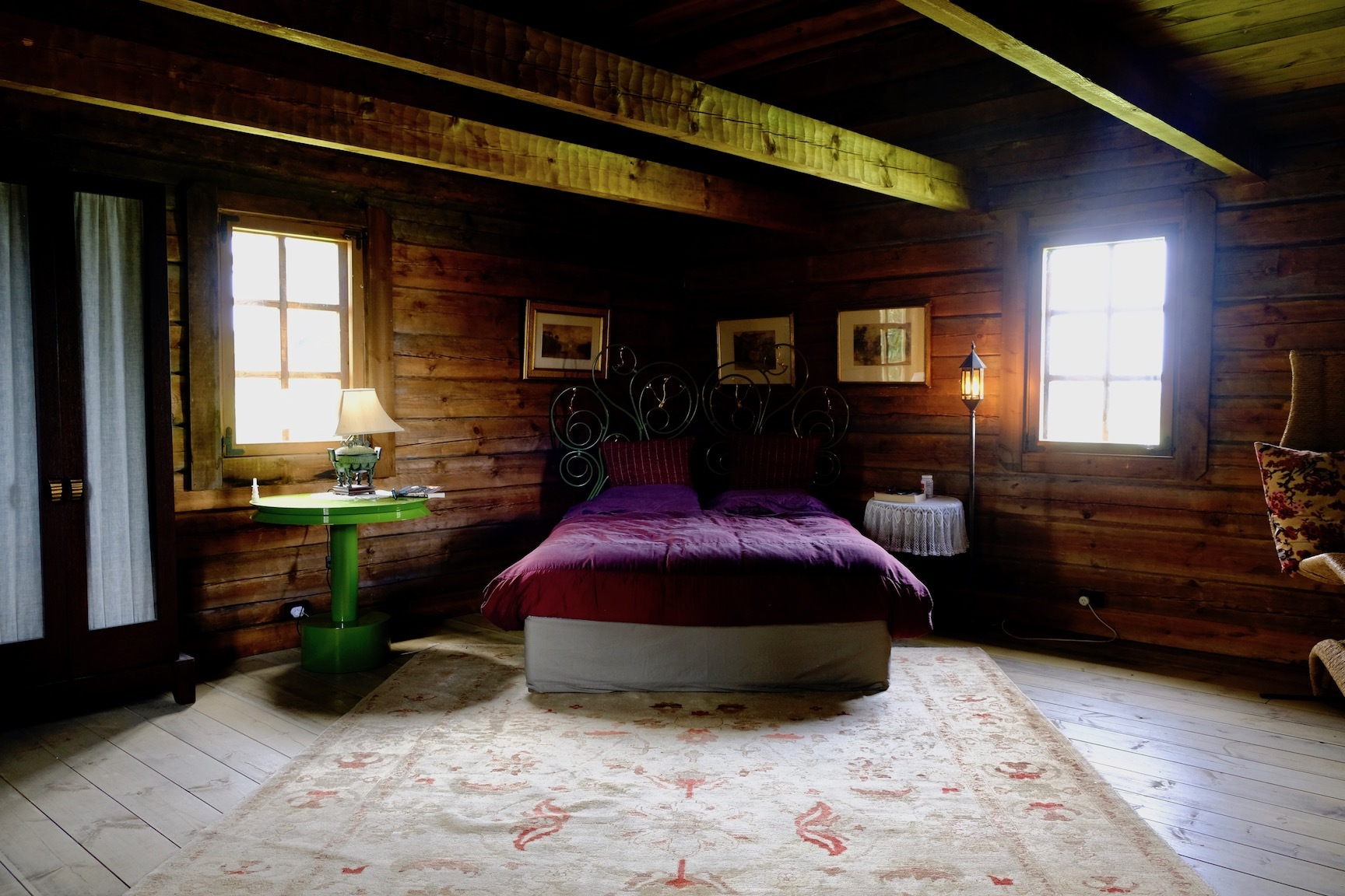 赤い空、グラスハウス、ログハウス内装/ Orange Sky, Glasshouse, Log Cabin Interior_e0310424_19173632.jpg