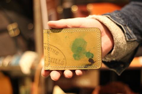 "VASCO ""PAINT LEATHER MONEY CLIP\"" ご紹介_f0191324_08233167.jpg"