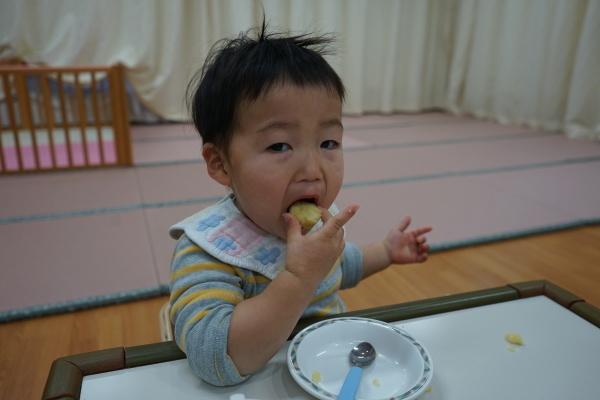 保育園 さつま芋団子レクリエーション_a0166025_16435267.jpg
