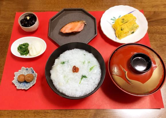 朝食は七草粥_d0116430_11295665.jpg