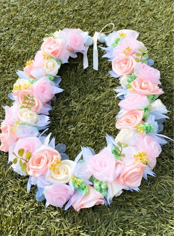 【Pink Wedding Bouquet Lei ピンク ウェディング ブーケレイ】_c0196240_17290597.jpeg