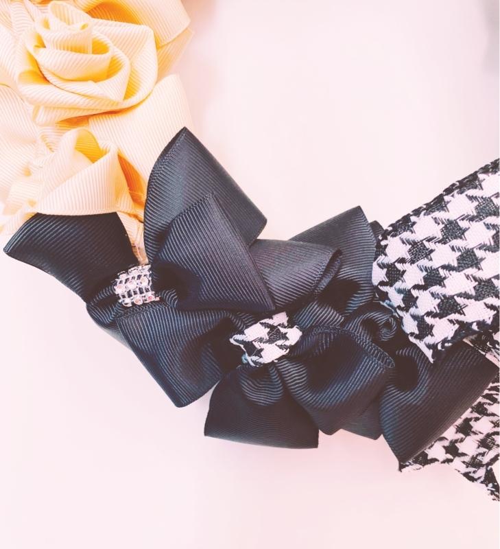 【Ribbon Wreath Black & Cream リボンリース・ブラック&クリーム】_c0196240_17490604.jpeg
