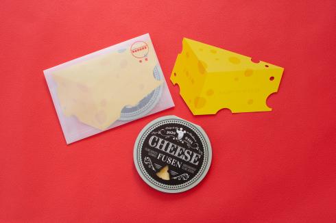 チーズの型抜き付箋_d0095746_16455440.jpg