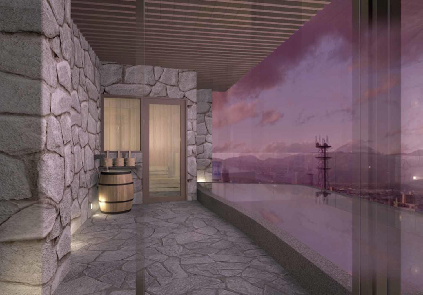 城のホテルは最上階が大浴場です_b0151362_17471544.jpg