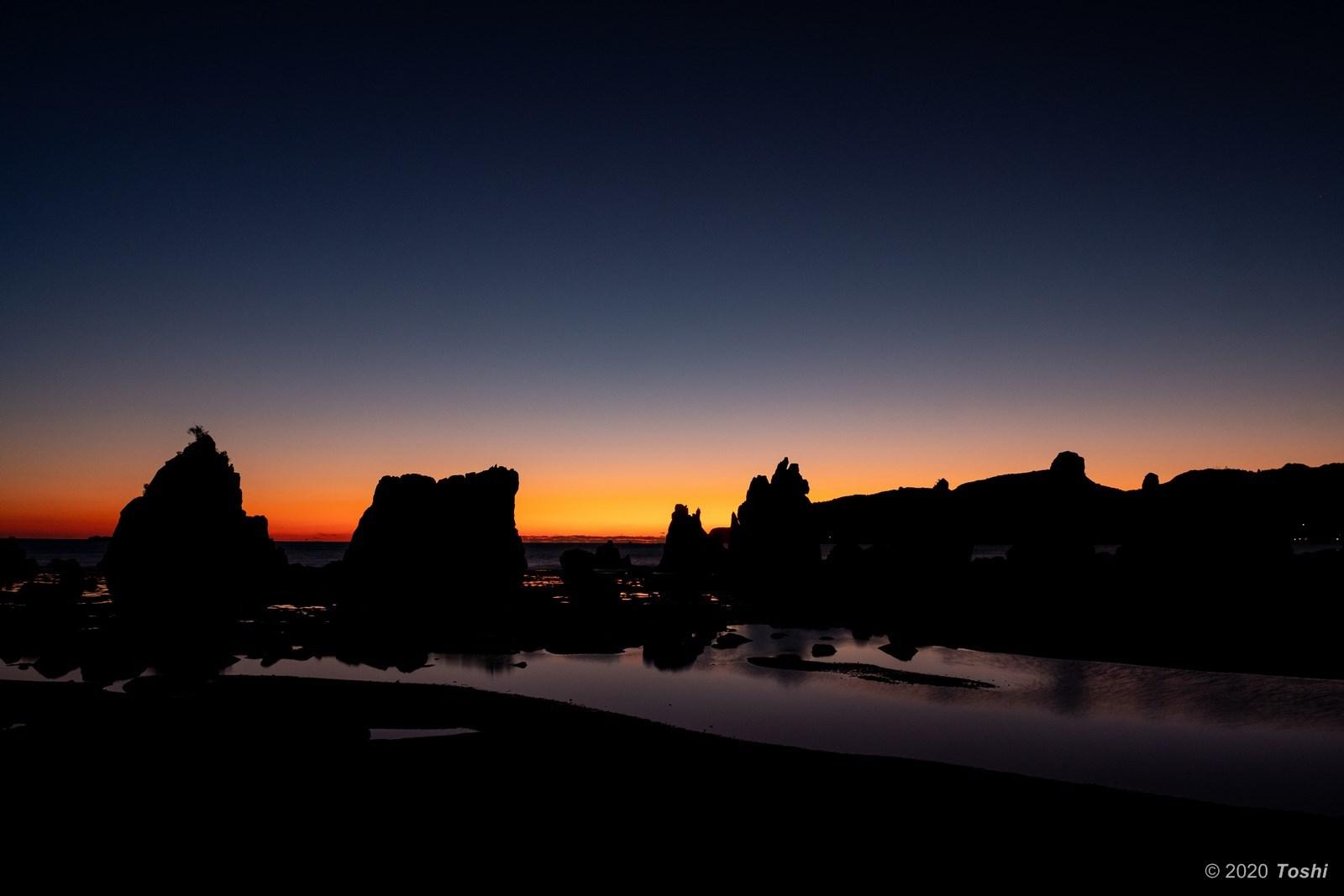橋杭岩 夜明け_c0350572_23355471.jpg
