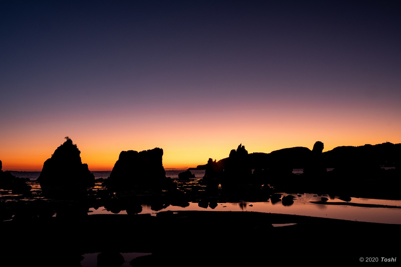 橋杭岩 夜明け_c0350572_23360375.jpg