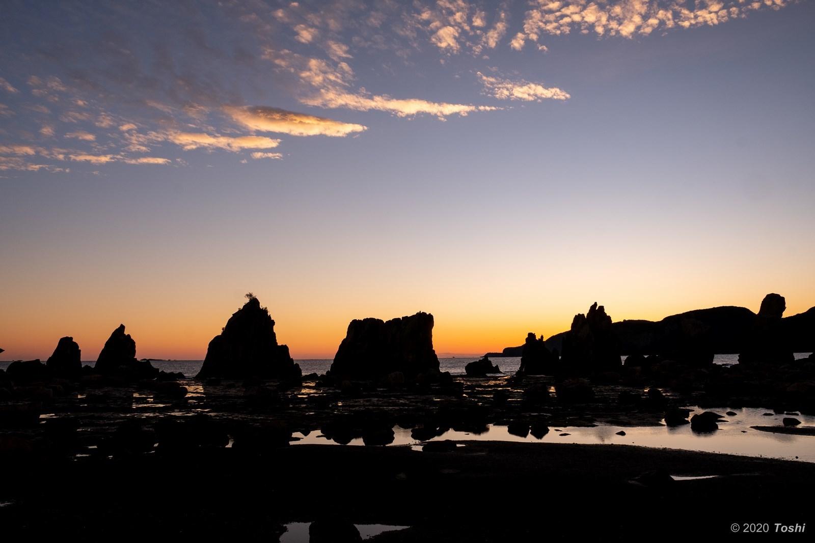 橋杭岩 夜明け_c0350572_23363596.jpg