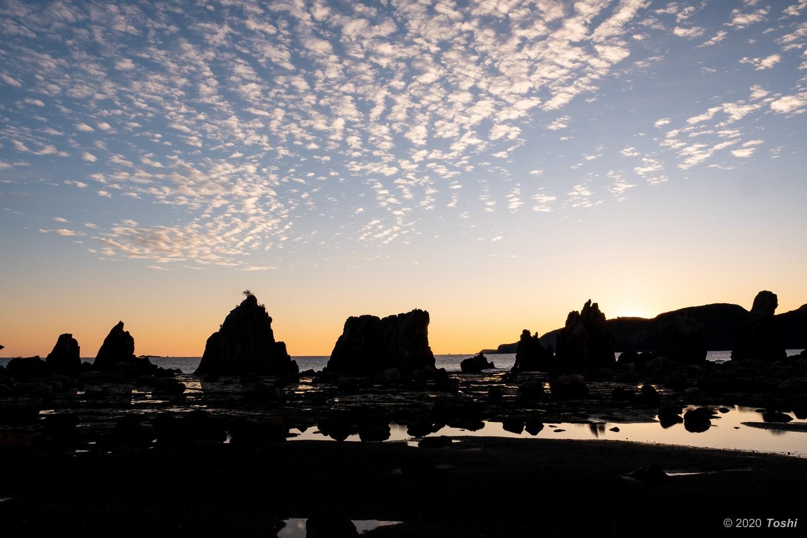 橋杭岩 夜明け_c0350572_23364157.jpg
