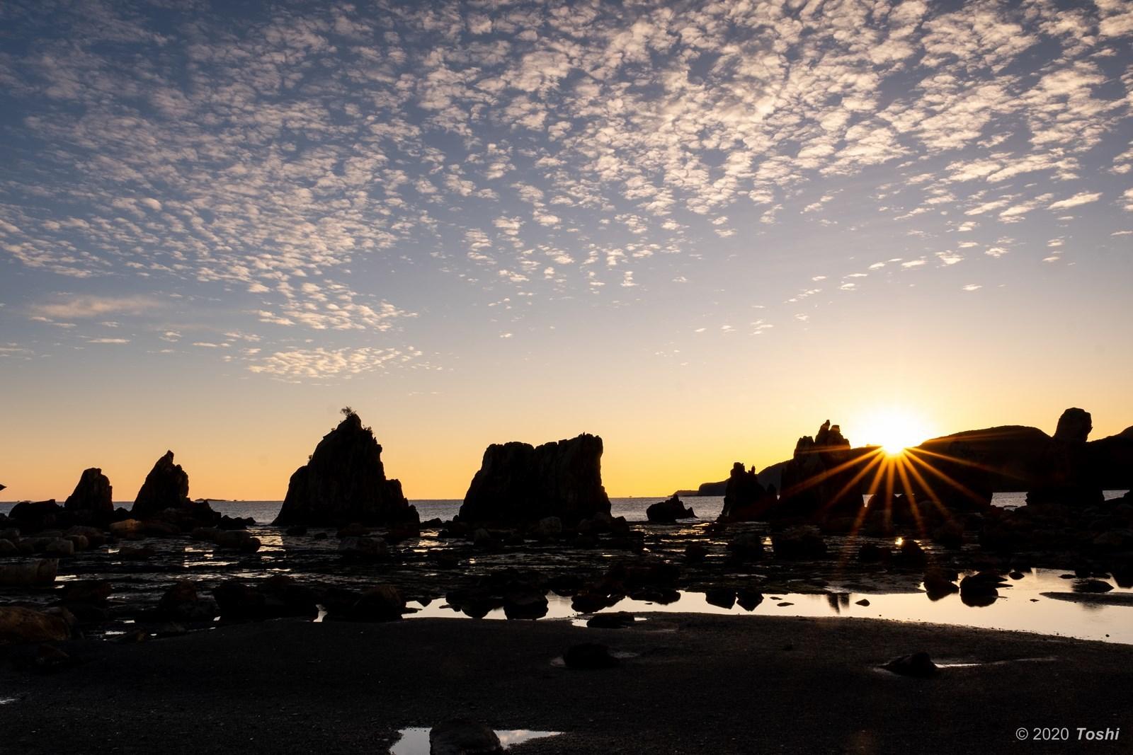 橋杭岩 夜明け_c0350572_23371722.jpg