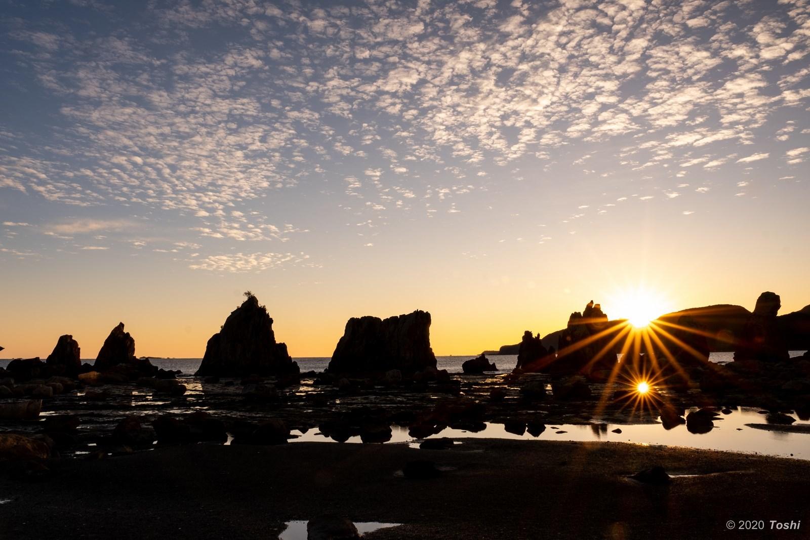 橋杭岩 夜明け_c0350572_23372253.jpg