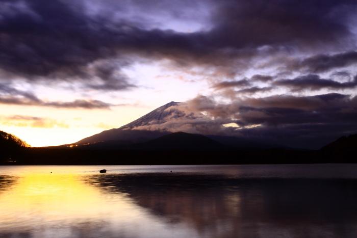 令和2年1月の富士 (1) 精進湖の初日の出の富士_e0344396_21295914.jpg