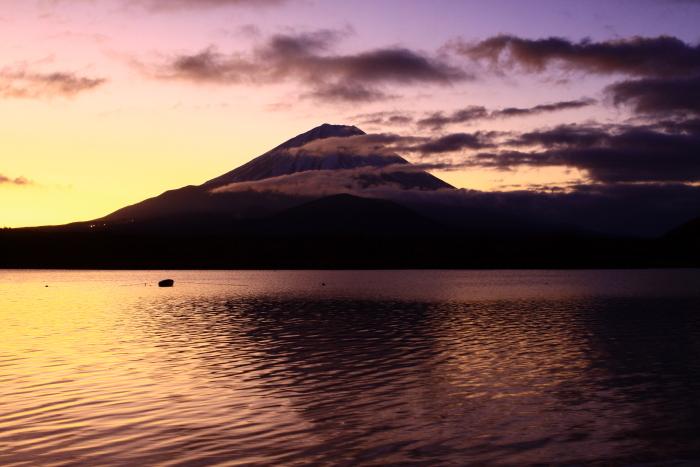 令和2年1月の富士 (1) 精進湖の初日の出の富士_e0344396_21300829.jpg