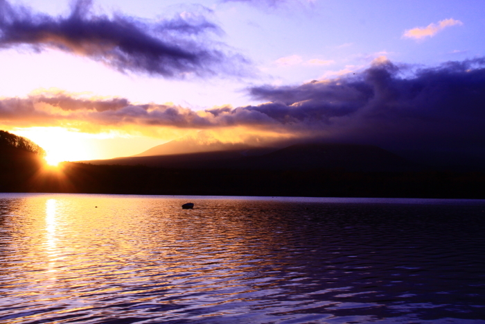 令和2年1月の富士 (1) 精進湖の初日の出の富士_e0344396_21301657.jpg