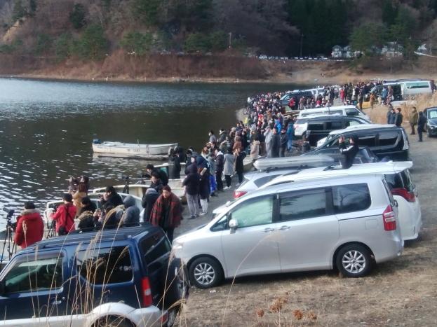 令和2年1月の富士 (1) 精進湖の初日の出の富士_e0344396_21302393.jpg