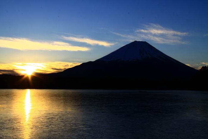 令和2年1月の富士 (1) 精進湖の初日の出の富士_e0344396_21303049.jpg