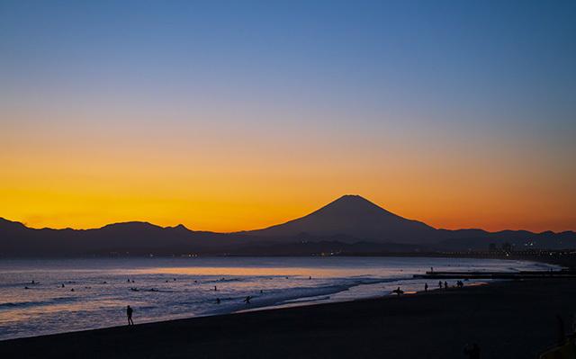冬の湘南海岸の夕景_b0145398_23161614.jpg