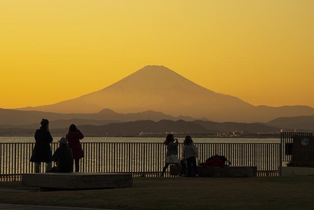 冬の湘南海岸の夕景_b0145398_23174886.jpg
