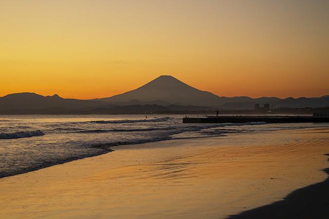 冬の湘南海岸の夕景_b0145398_23335191.jpg