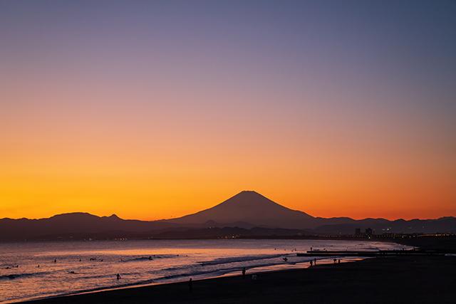 冬の湘南海岸の夕景_b0145398_23352378.jpg