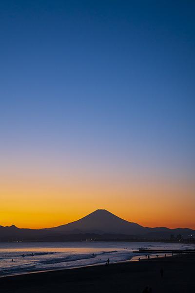 冬の湘南海岸の夕景_b0145398_23354690.jpg