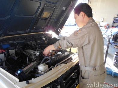 JA11、JA22ジムニー オイル漏れ修理中(*^o^*)_c0213517_15494691.jpg