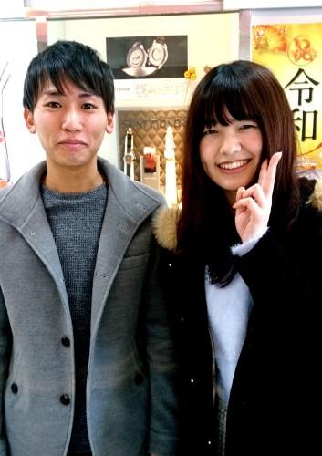 令和2年最初の素敵なカップルです♡_b0309424_15391277.jpg