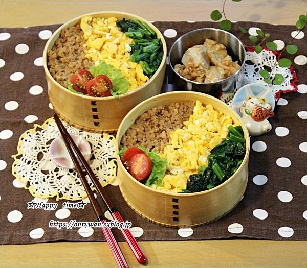 3色そぼろ弁当と虹♪_f0348032_16503551.jpg