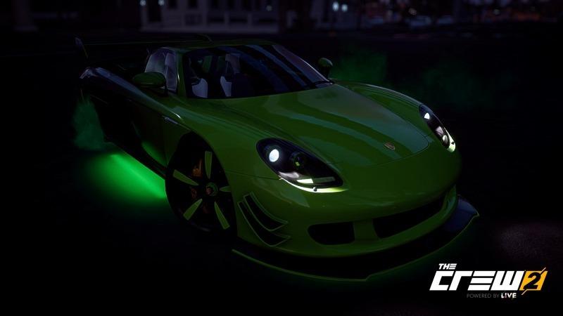 ゲーム「THE CREW2 サンフランシスコ港のバトルシップとCarrera GT Green Flash Edition」_b0362459_17103844.jpg