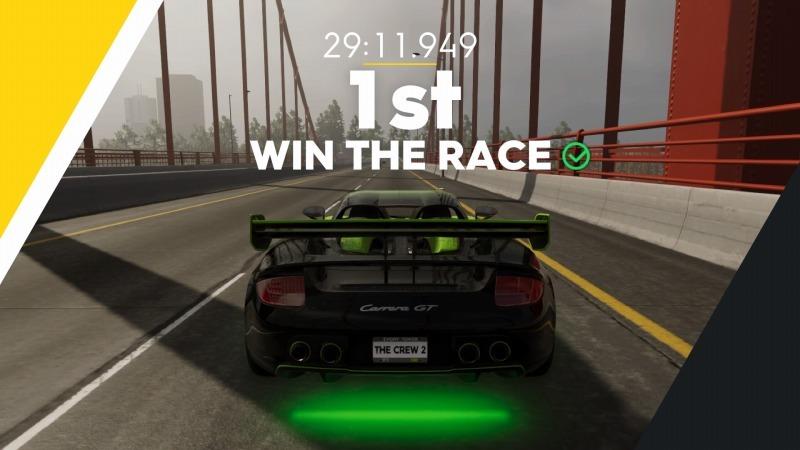 ゲーム「THE CREW2 サンフランシスコ港のバトルシップとCarrera GT Green Flash Edition」_b0362459_17165476.jpg