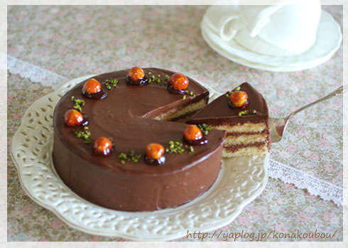 2月のお菓子・チョコレートケーキ2018_a0392423_00150248.jpg