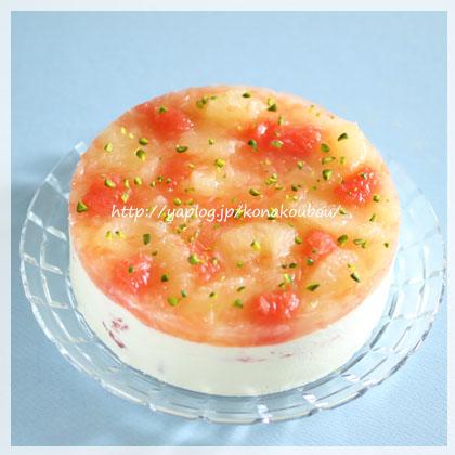 5月のお菓子・グレープフルーツとチーズ_a0392423_00151857.jpg