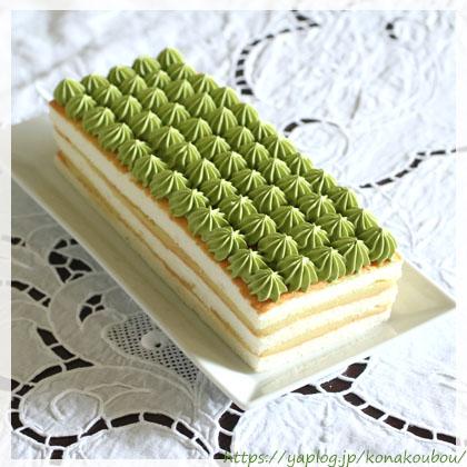 9月のお菓子・抹茶と栗のケーキ2018_a0392423_00154301.jpg