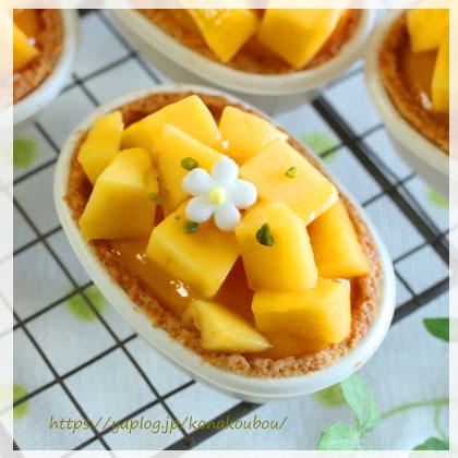 6月のお菓子・マンゴーとチーズ_a0392423_00164204.jpg