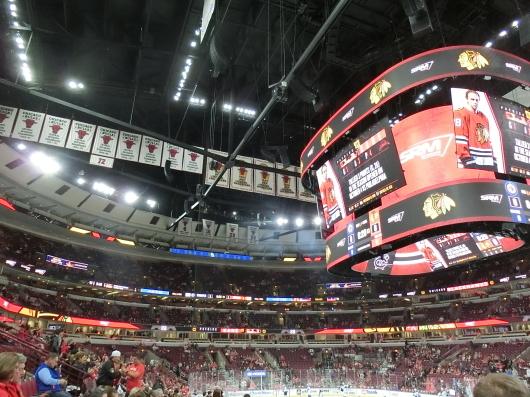 NHL観戦 ☆ CHICAGO Blackwawks 公開練習_e0303431_19121057.jpg