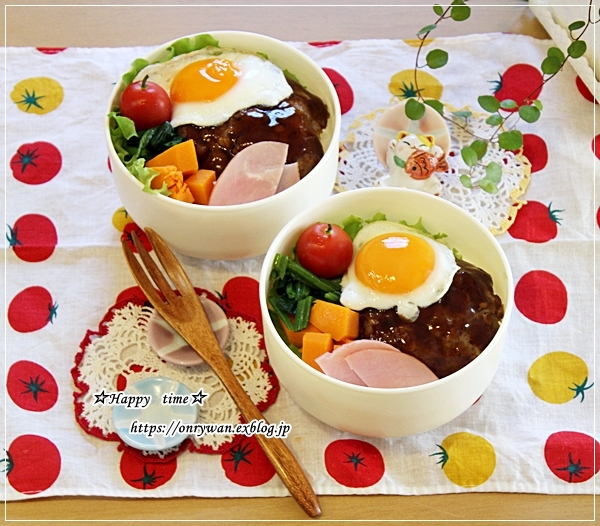ロコモコ丼弁当と山さん♪_f0348032_16521411.jpg