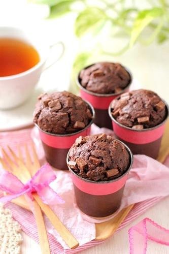 レシピ【混ぜるだけ!濃厚チョコレートカップケーキ】_a0165538_18160778.jpg