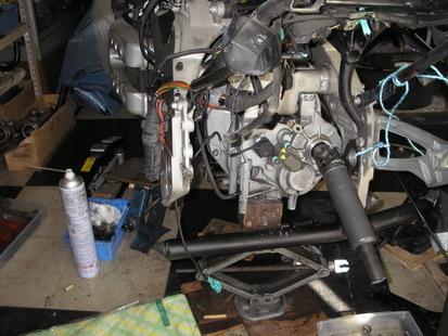 BMW  K1200RS+EML サイドカー(クラッチレリーズとクラッチ板の交換)_e0218639_10182653.jpg