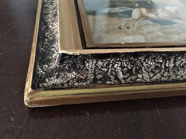 木製額入りオリジナル水彩画「馬を走らせる婦人」_f0112550_08250446.jpg