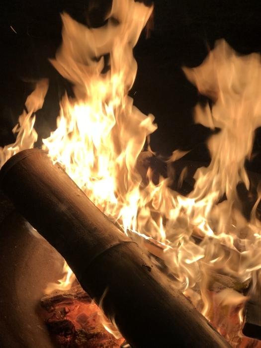 炎の中に梵字かな。  焚き火は心も骨も暖まるなり_d0105967_01225478.jpeg