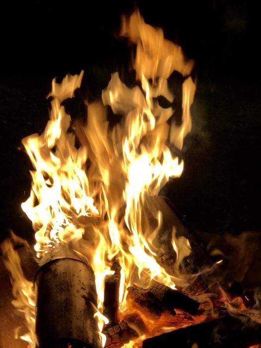 炎の中に梵字かな。  焚き火は心も骨も暖まるなり_d0105967_01255235.jpeg