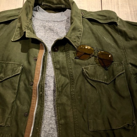 "1950s "" U.S ARMY \"" ALL cotton SATEEN M -1951 VINTAGE FIELD JACKET ._d0172088_21122503.jpg"