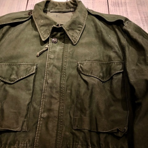 "1950s "" U.S ARMY \"" ALL cotton SATEEN M -1951 VINTAGE FIELD JACKET ._d0172088_21164924.jpg"