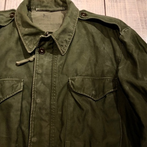 "1950s "" U.S ARMY \"" ALL cotton SATEEN M -1951 VINTAGE FIELD JACKET ._d0172088_21191547.jpg"