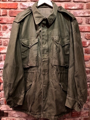 "1950s "" U.S ARMY \"" ALL cotton SATEEN M -1951 VINTAGE FIELD JACKET ._d0172088_21205655.jpg"