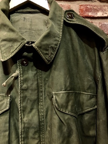 "1950s "" U.S ARMY \"" ALL cotton SATEEN M -1951 VINTAGE FIELD JACKET ._d0172088_21211468.jpg"