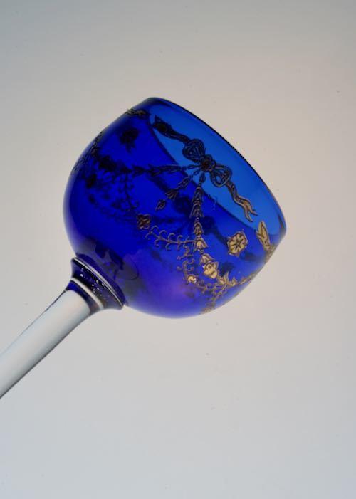 ST Louis サン・ルイ Blue Liqueur Glass_c0108595_23461291.jpeg