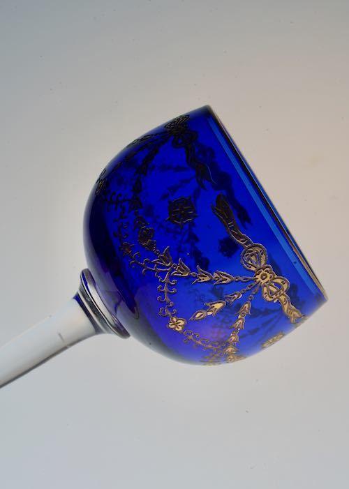 ST Louis サン・ルイ Blue Liqueur Glass_c0108595_23461401.jpeg