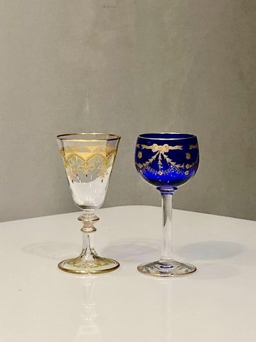 ST Louis サン・ルイ Blue Liqueur Glass_c0108595_23594468.jpeg