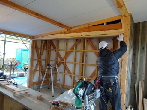 仙北町の家 大工工事が進行中です!_f0105112_04321785.jpg